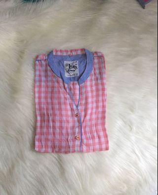 Pink list blue shirt by Lois Jeans