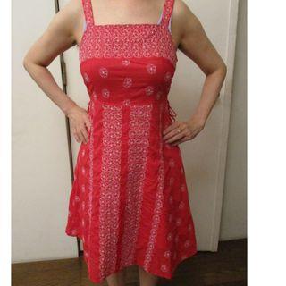 Hana okuba 紅色 繡花 小洋裝 #5折清衣櫃
