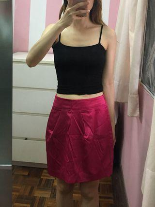 Pink Casual or Office Panel Skirt