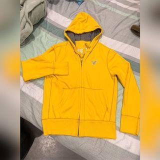 A&F 陽光黃棉帽T外套