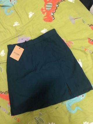藏青色開衩A字窄裙❤️#五折清衣櫃