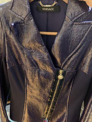 Versace皮外套