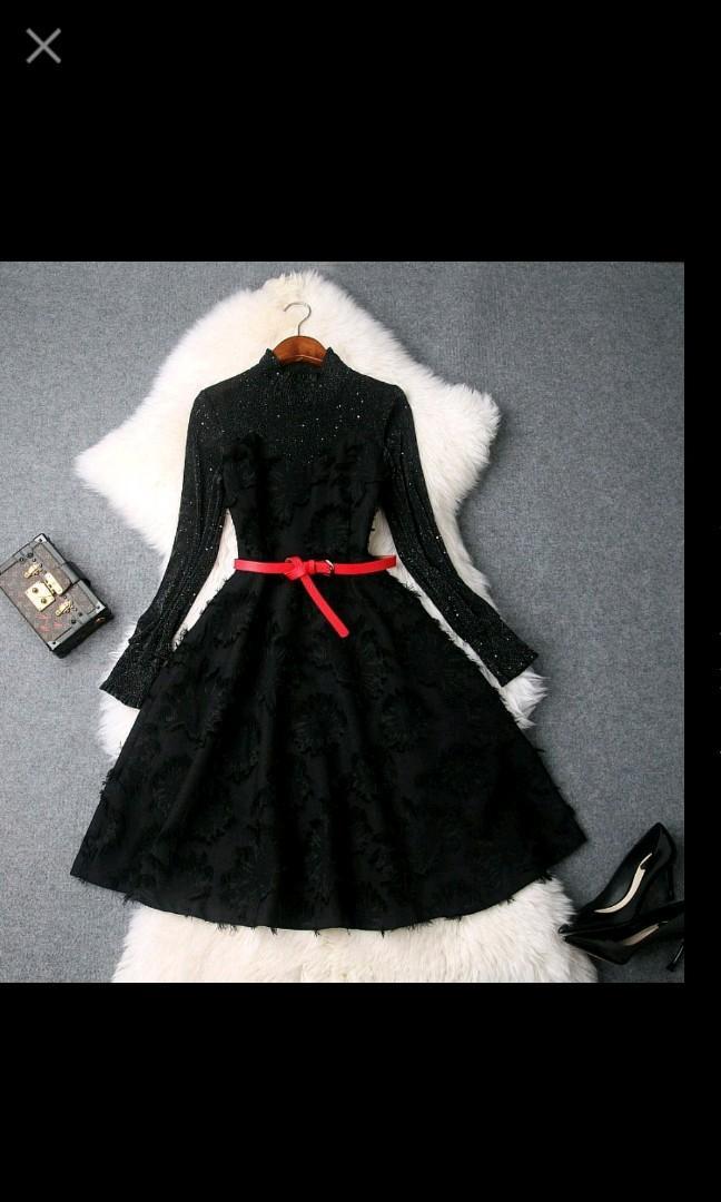 亮絲網紗連身裙