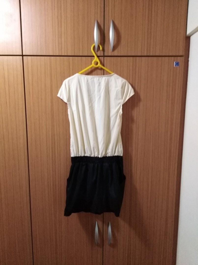 全新💕米色蝴蝶結連身洋裝