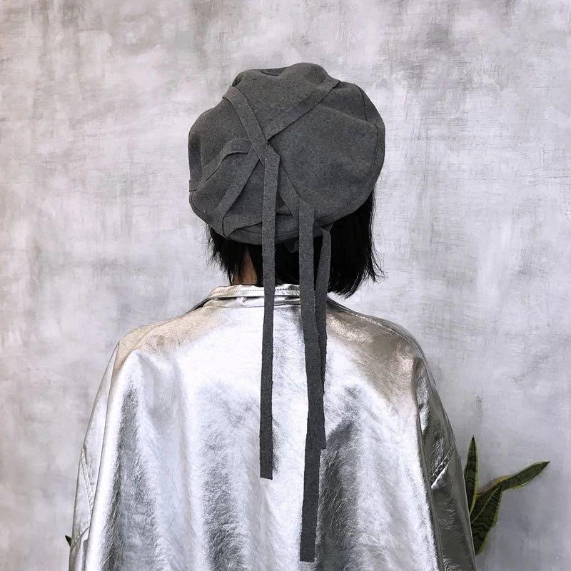 長條墜飾貝蕾帽