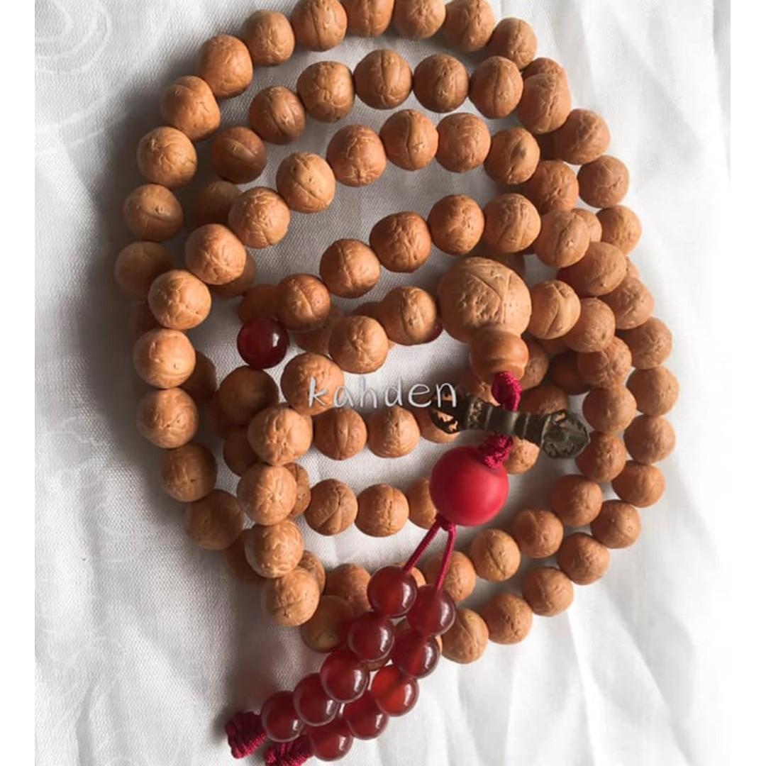 甘丹佛教文物 ^^正尼泊爾 鳳眼菩提子念珠11-11.2mm R( 非常均勻 品相美) 自己帶回 物廉價美