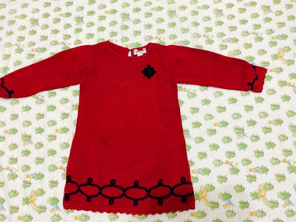 冬季針織上衣 紅