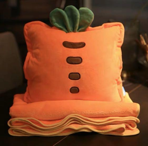 秋冬暖心單品 二合一被子午安枕