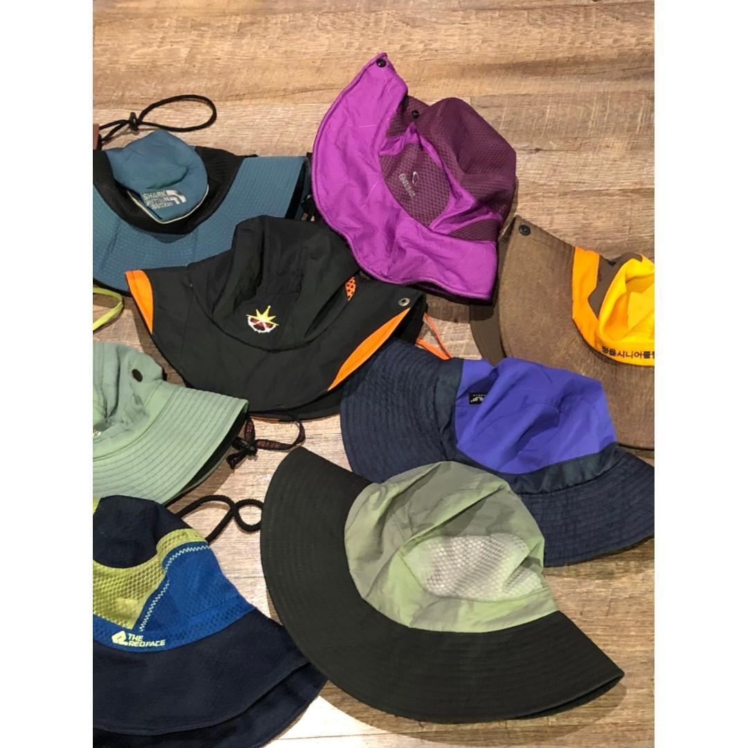 豬肉小姐 復古  漁夫帽 養樂多帽 圓頂帽 雙色拼接漁夫帽 拼接圓頂帽 機能漁夫帽