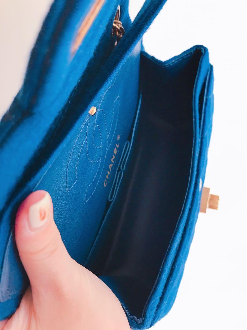 全配 台灣購買證明 Chanel 2.55牛仔款 20cm小包