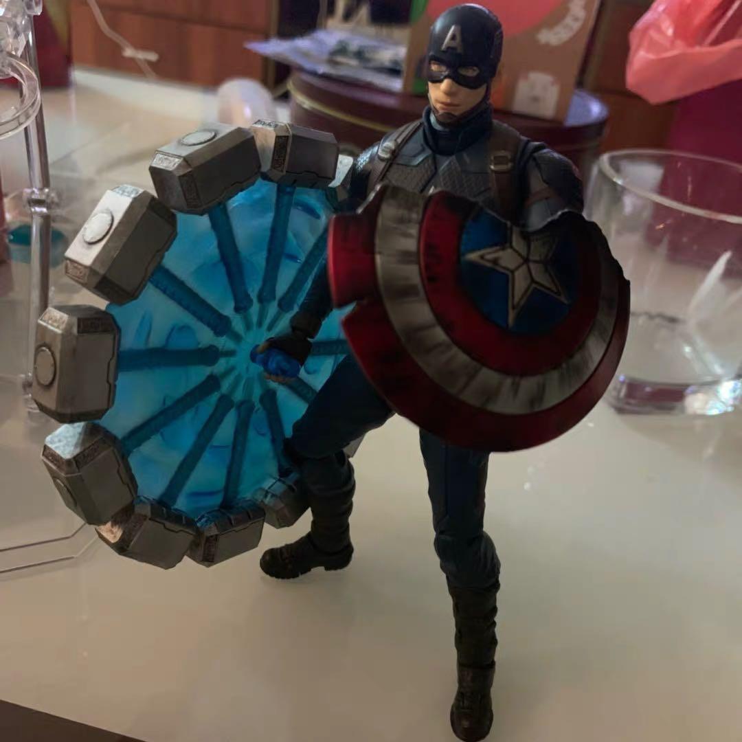 現貨 Captain America shield shf ml 美國隊長 戰損盾牌 雷神 錘 Avenger endgame weapon set 1/12