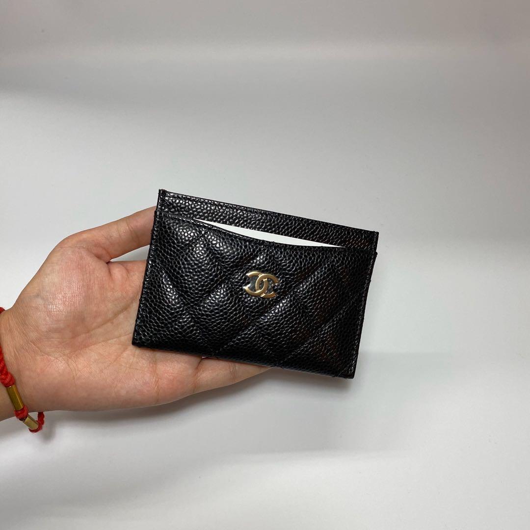 全新現貨 Chanel 香奈兒 小香 荔枝皮金釦 格菱紋 卡夾 卡片夾 鈔票夾 經典款 全配 禮盒 天菜 法國代購 全配