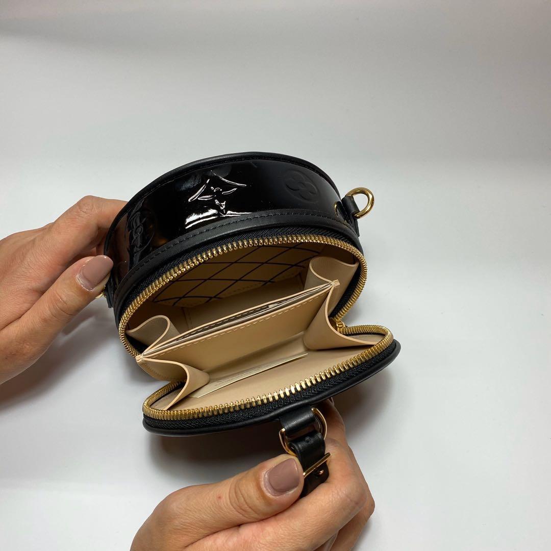 全新現貨 LV LouisVuitton Mini Boite Chapeau 漆皮黑 禮帽包 圓餅包 肩背包 腰包 歐洲限定款 M90469 迷你包 LV