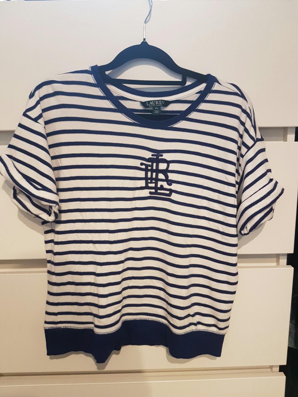 Authentic Lauren by Ralph Lauren striped shirt size S