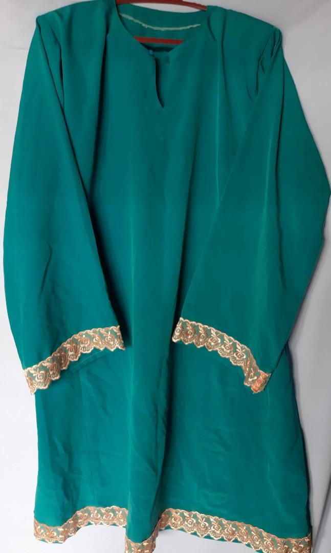 Baju Kurung Plain Turquoise
