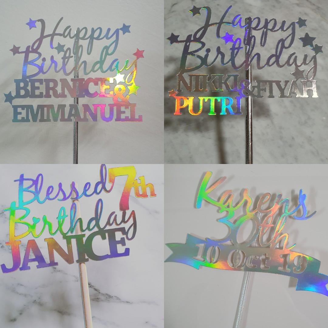 Birthday Cake Topper Rainbow