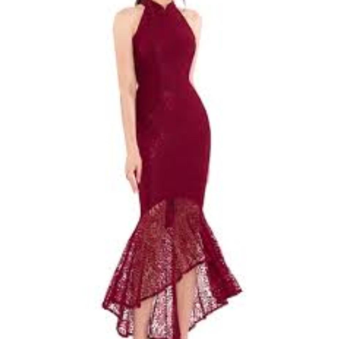 BNWT RED Doublewoot Dyvenia Dress/Gown, Size XS