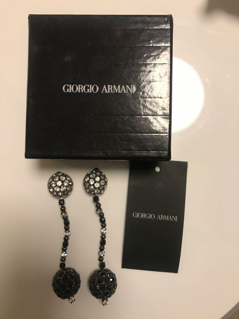 Brand new Giorgio Armani earrings ear rings 夾耳環 face trade earring clip on with box face trade lv hermes Chanel Dior