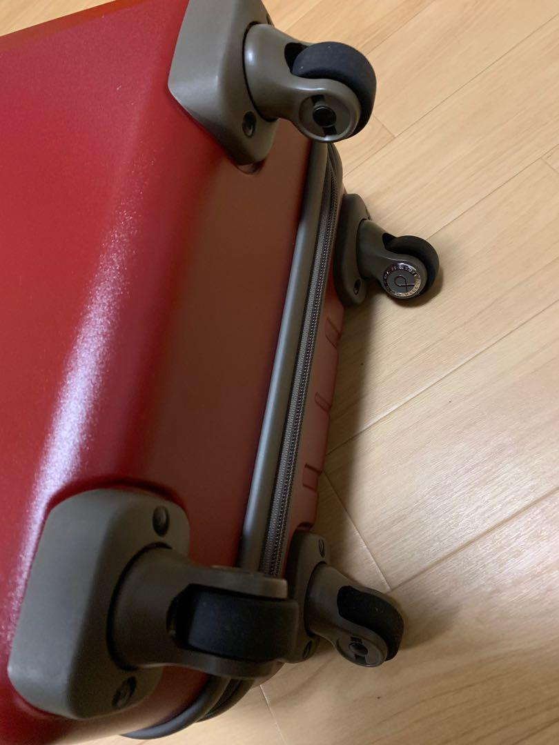 Brand new suitcase suit case red hand carry proteca made in Japan ace 超輕 手提行李 行李箱 Hand carry check in luggage face trade not delsey American tourist tumi rimowa samsonite