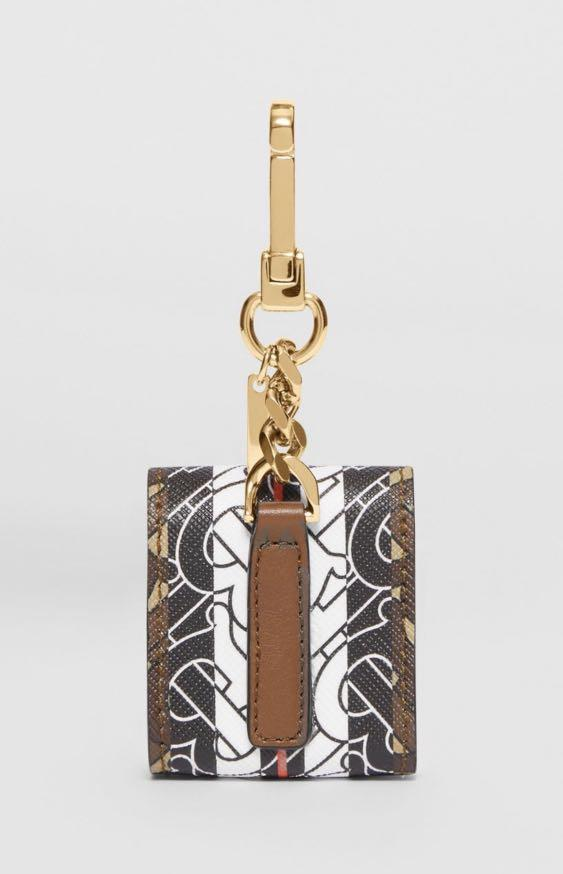 全新現貨 burberry 專屬標識條紋環保帆布 AirPods 耳機套 保護套 零錢包 迷你包 小包 80206911 禮盒包裝
