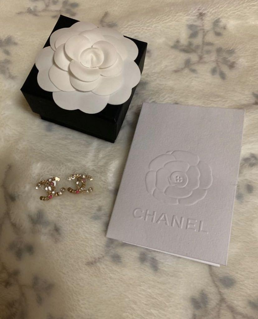 Chanel 粉色拼接耳環 2019春夏新款
