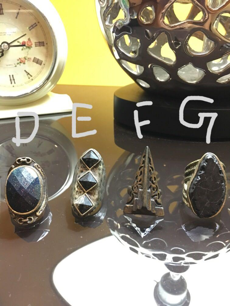 Chunky Rings: ANY 3 FOR RM5!!