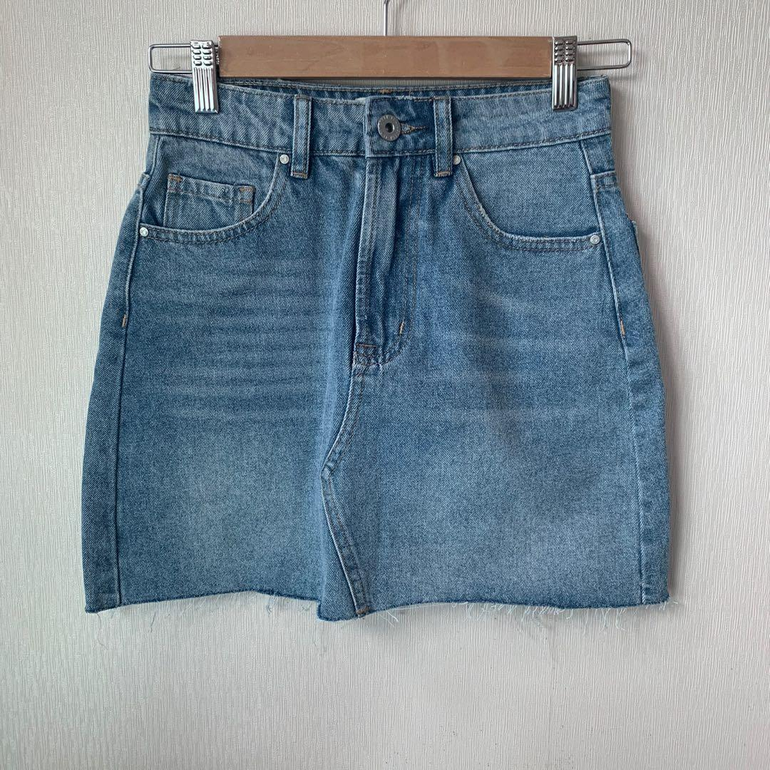 Cotton On classic regular wash denim skirt