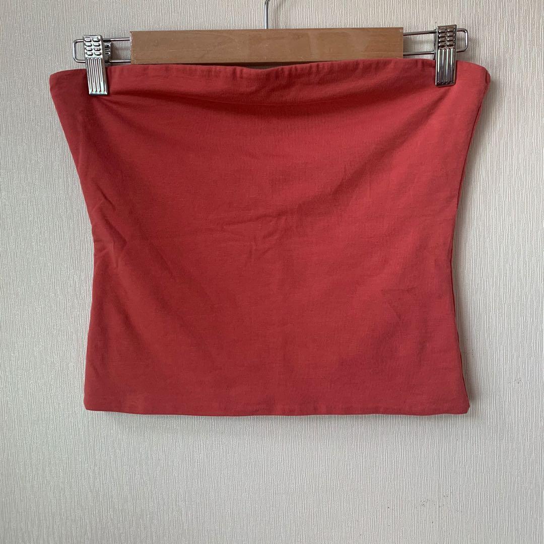 Cotton On peach tube top / bandeau top