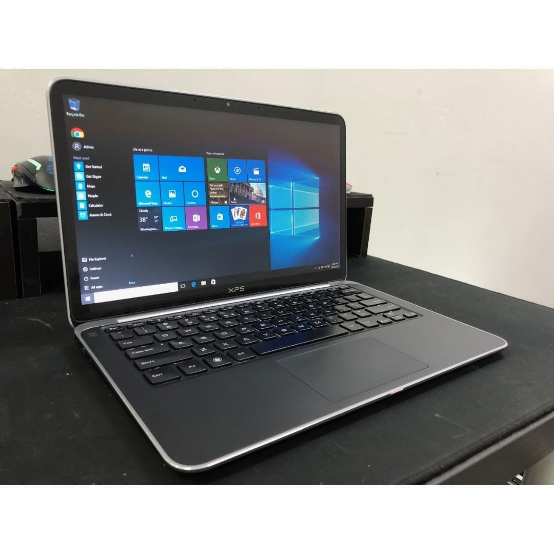Dell i7 Ultra Slim & LightWeight Laptop + SSD + MS Office + LED Keyboard