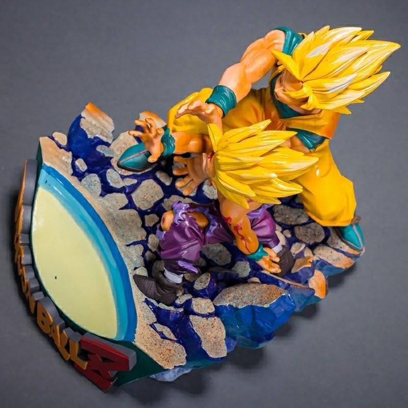 Dragon Ball Z super saiyan son goku&son gohan 18cm