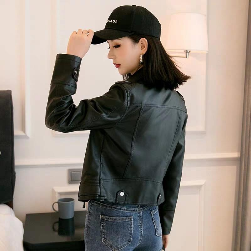 <EXPRESS PO>Winter collection-PU leather winter jacket comes in baby pink, Black and beige