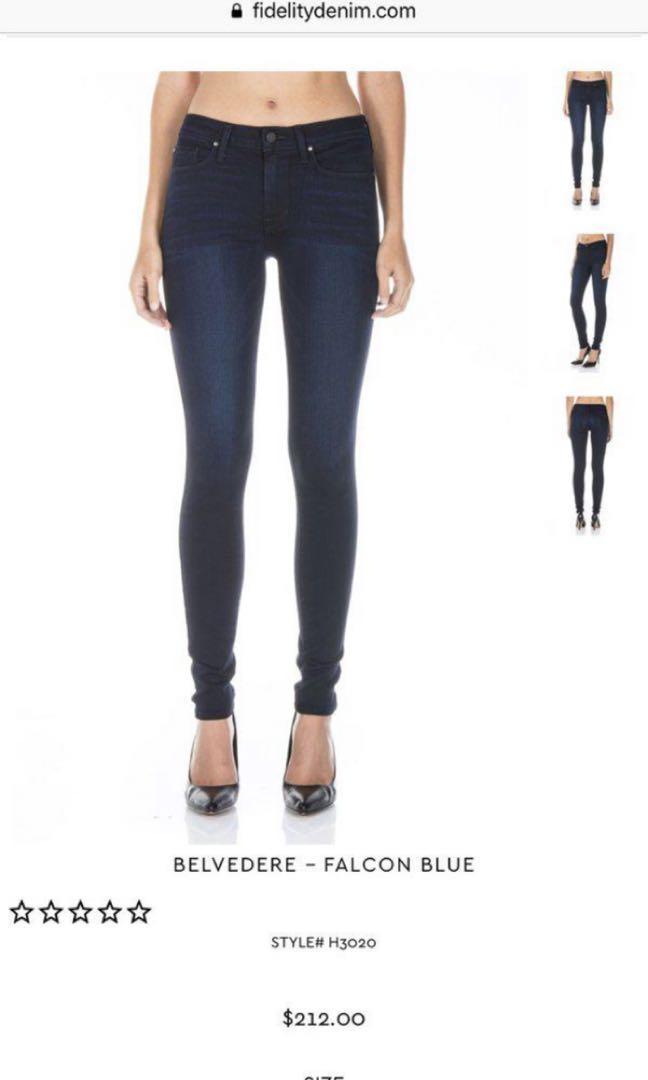 Fidelity- Belvedere Skinny Jean
