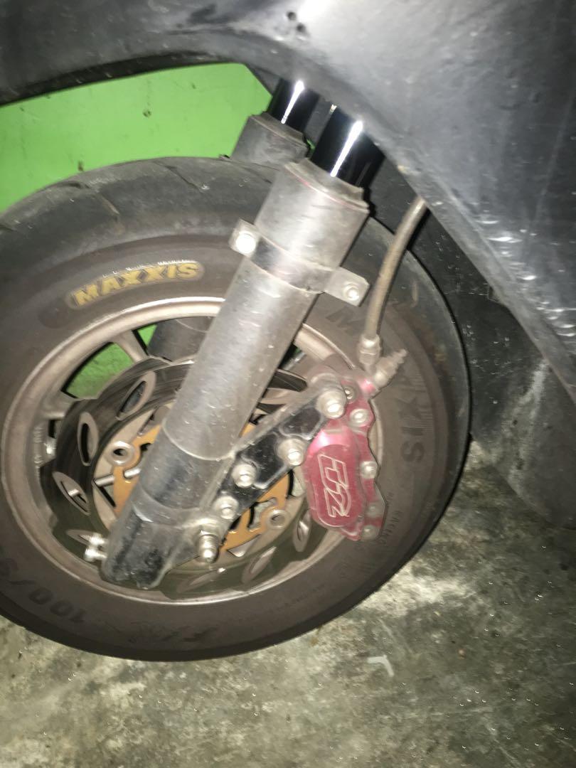 G4三項城北白鐵/油冷/DYD2前總成F1十寸輪胎前後一般復合輪胎