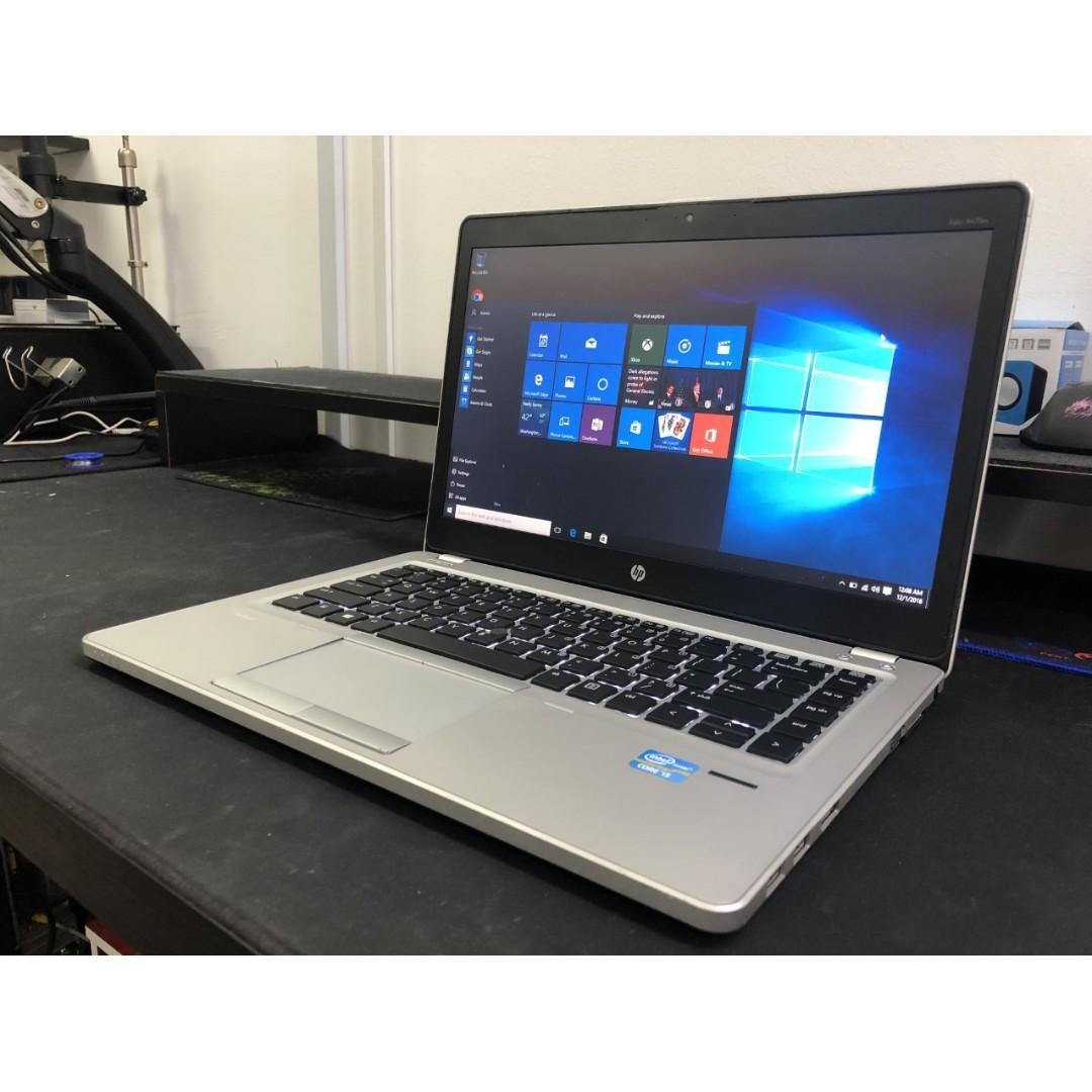 HP Slim & LightWeight Laptop + 8GB Ram + MS Office + LED Keyboard