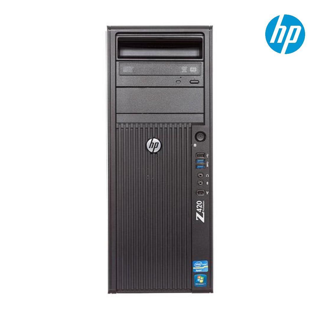 HP Z420 CAD Workstation /intel Xeon 4-Core E5-1620 #3.6Ghz / 16GB RAM /New 240GB SSD + 1TB SATA HDD / GPU 1GB /Win 10 Pro / Used /one month warranty
