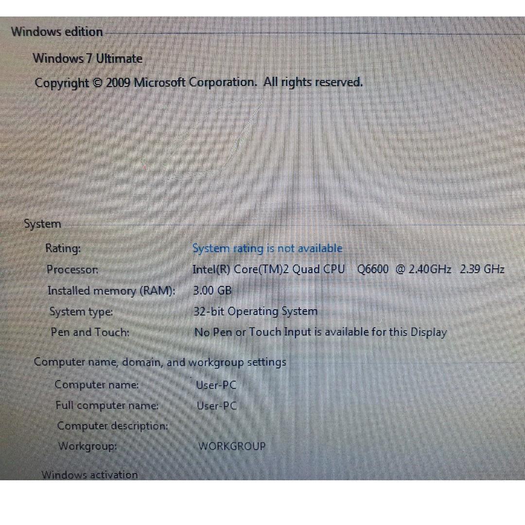 Intel Core2 Quad Q6600 Desk Top - defect