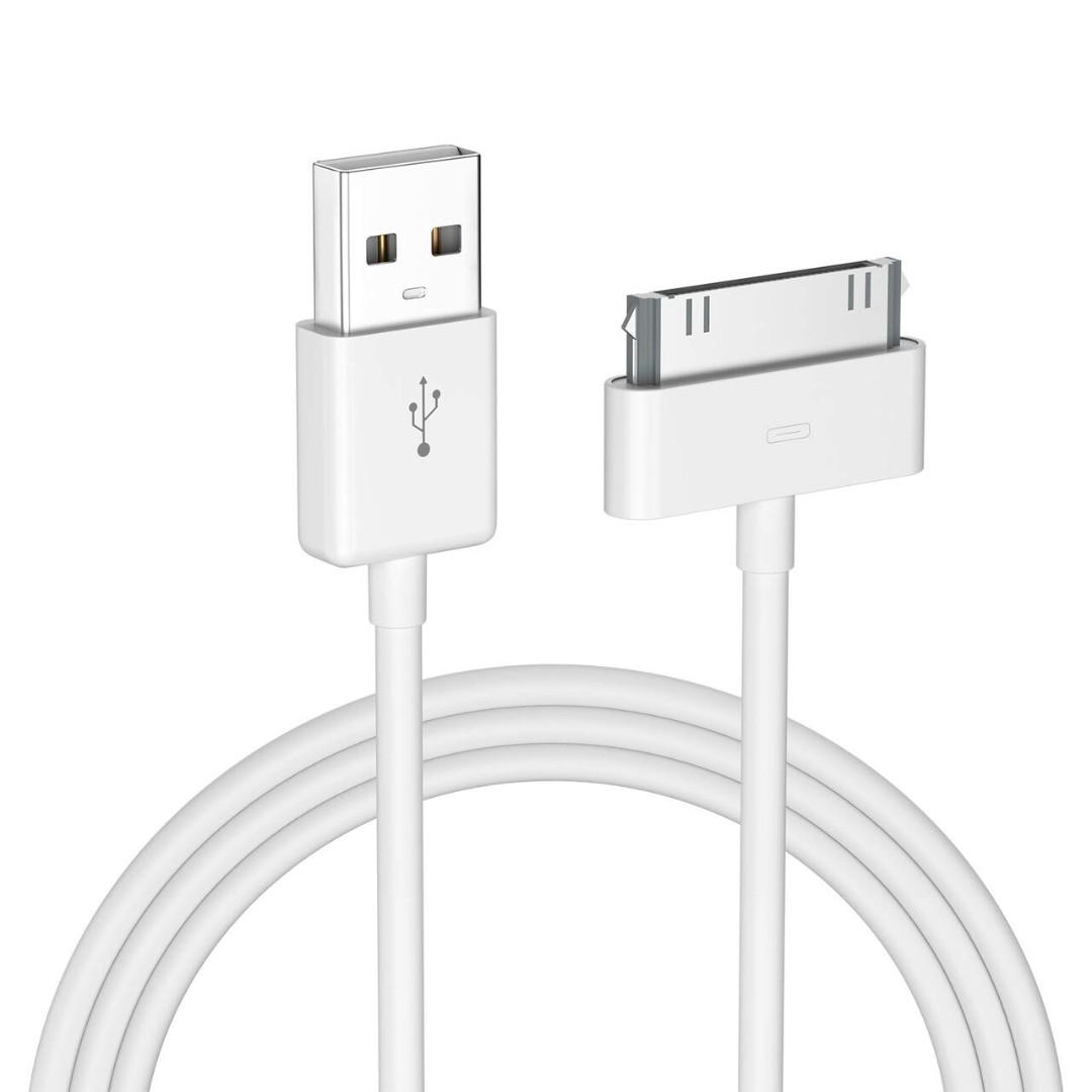 Lot of 10 CHARGE /& SYNC USB 4FT 30 Pin Cable iPhone 3 3GS 4 4S iPod 5 iPad 1 2 3