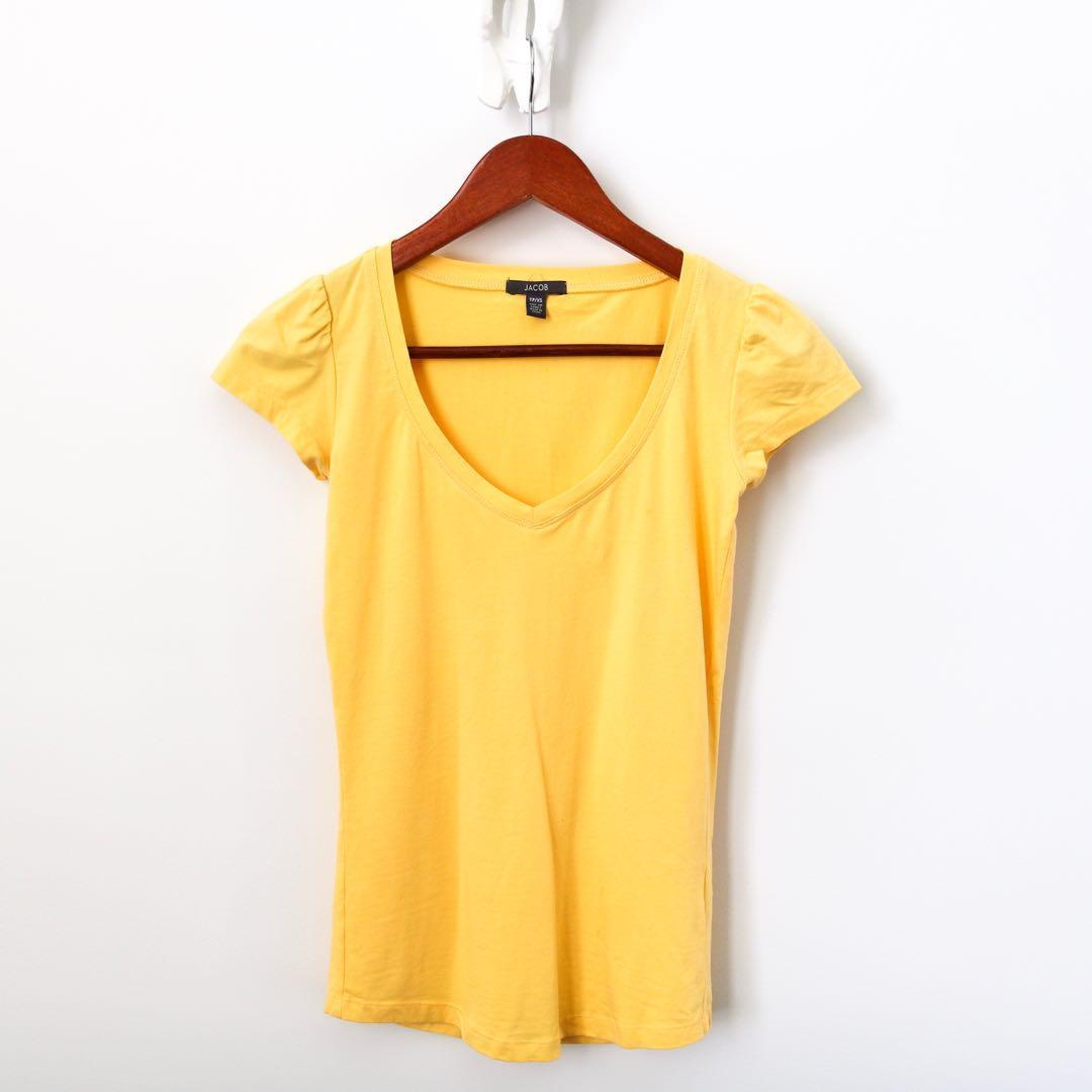 Jacob Yellow V-Neck T-shirt