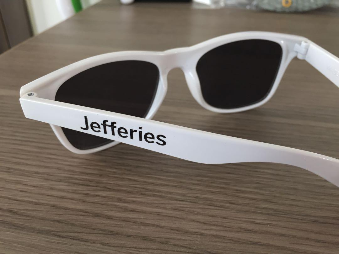 白色太陽眼鏡Jefferies white sunglasses