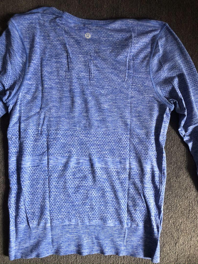 Lululemon Size 4 Swiftly Breeze long sleeve top purple blue