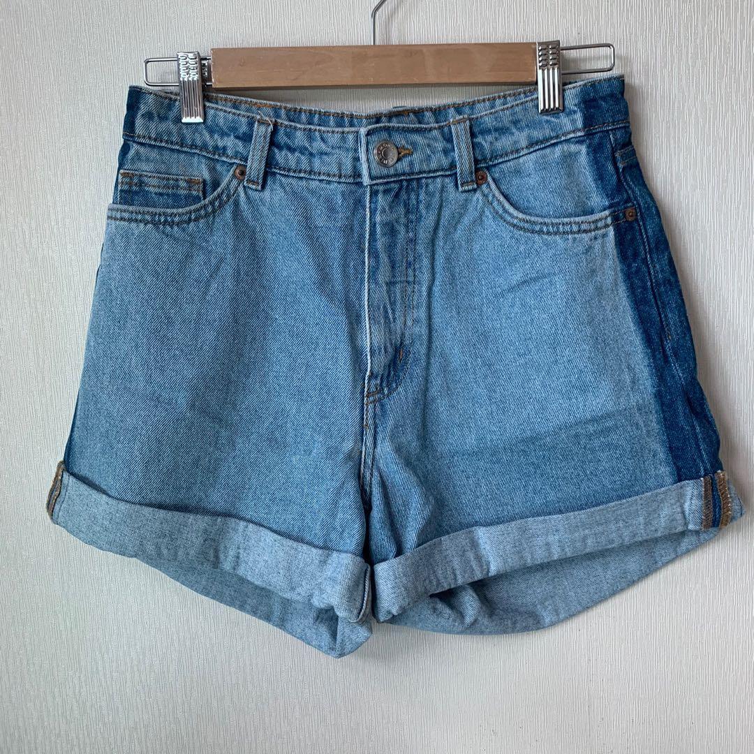 Monki denim mom shorts
