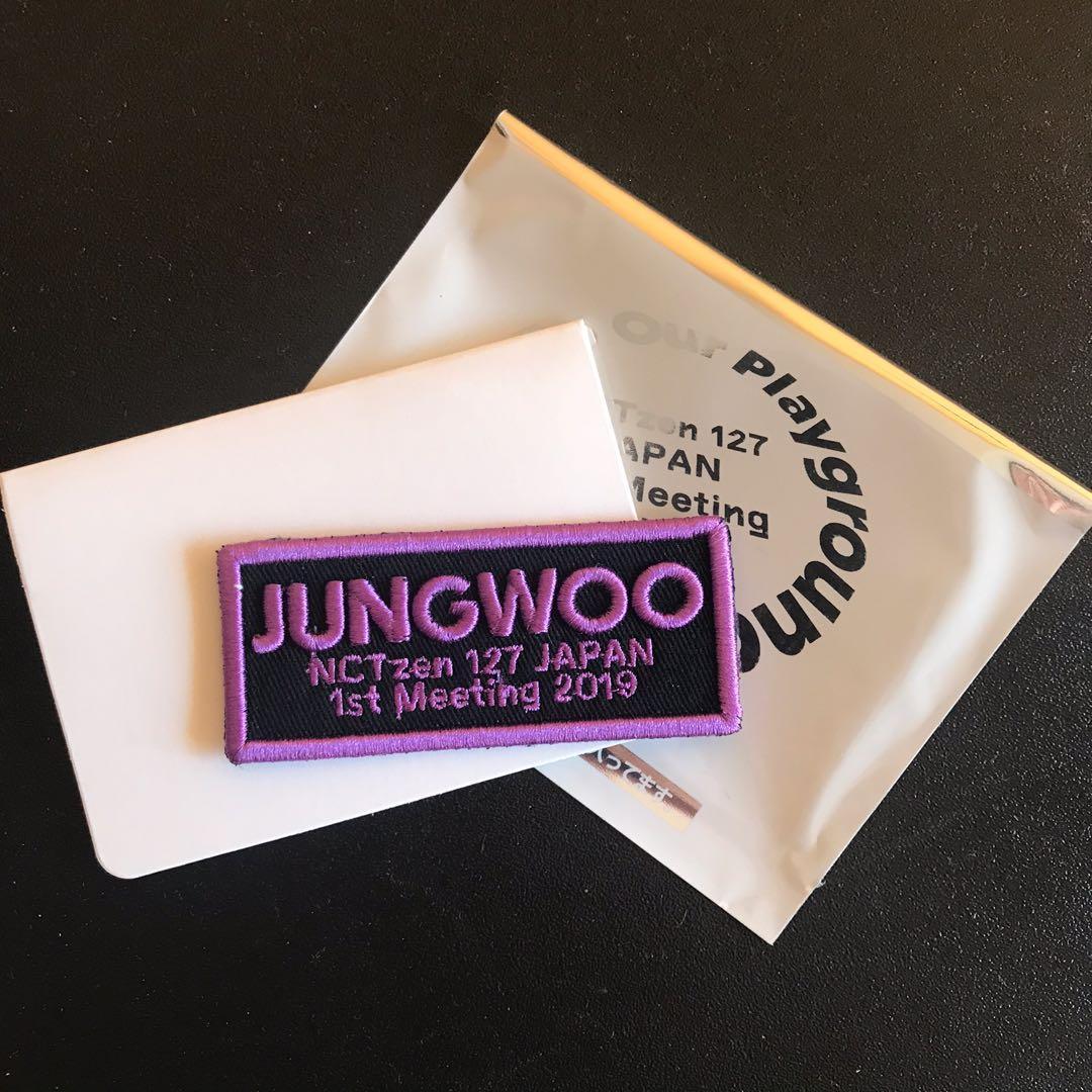 NCT127 JUNGWOO - Badge (wappen) OFFICIAL JAPAN FANMEET IN TOKYO 2019 GOODS