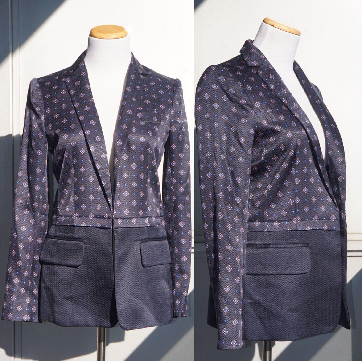 *NWT* Club Monaco 'Alison' Silk & Wool Blazer Women Size 2