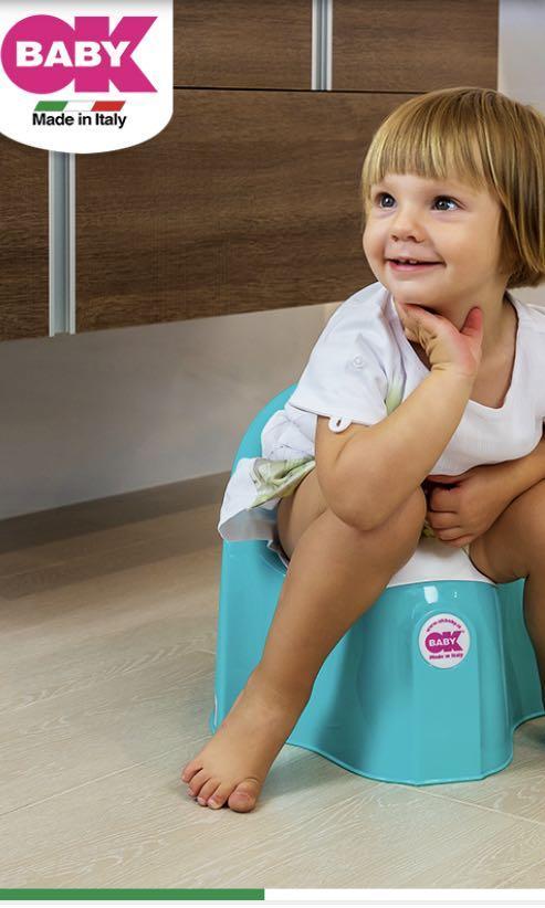 全新  義大利製 OK BABY 寶寶便盆(椅子) 純白