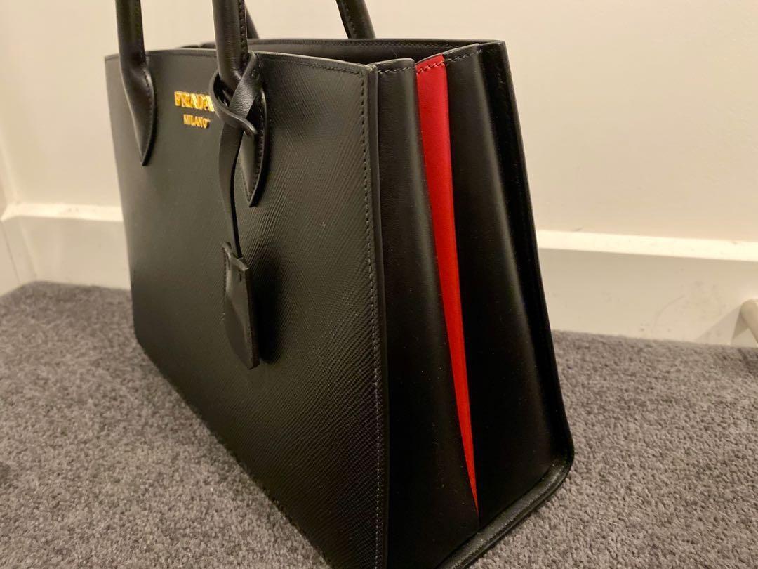 Prada Bibliotheque Leather Bag