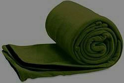 Quality sleeping bag in olive green