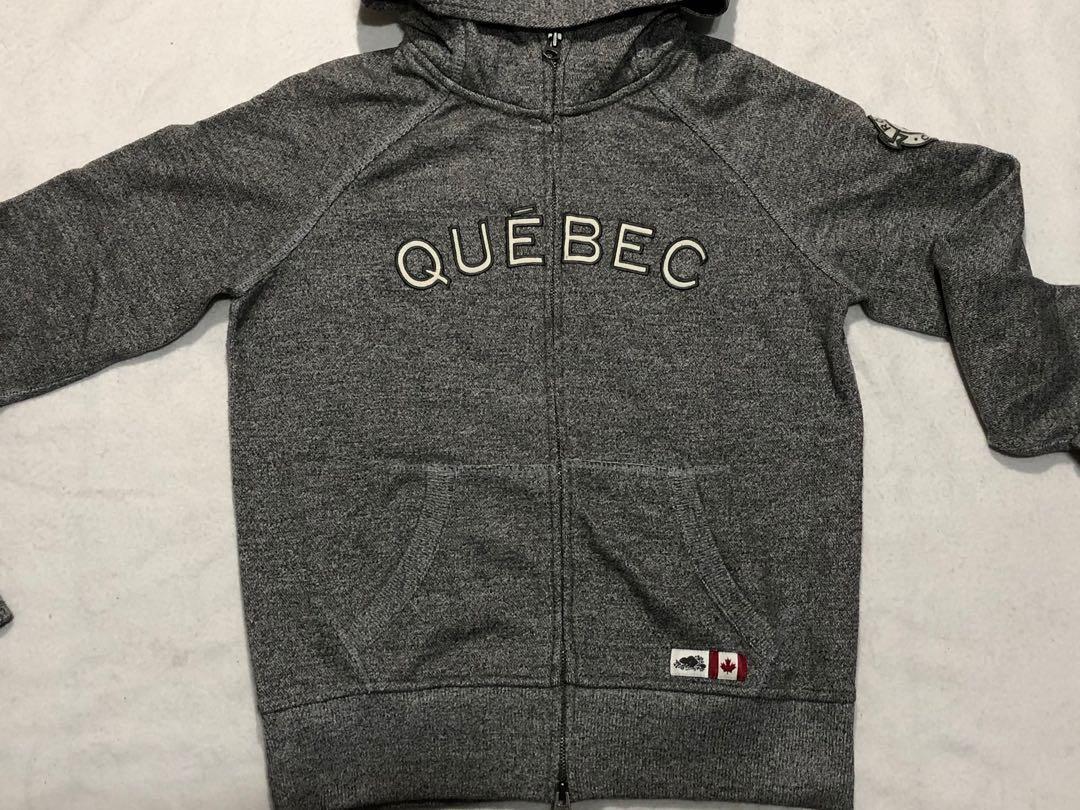 Roots Canada quesec logo二手針織連帽外套