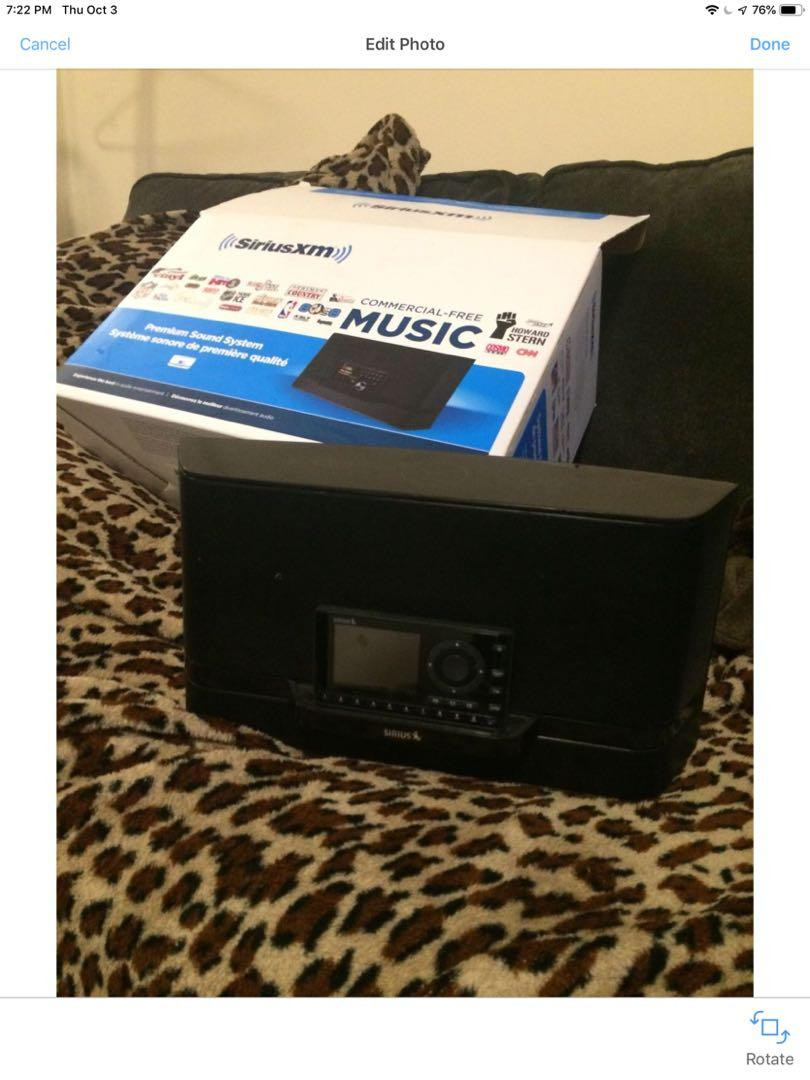 Sirius satellite radio portable with boom box and car kit