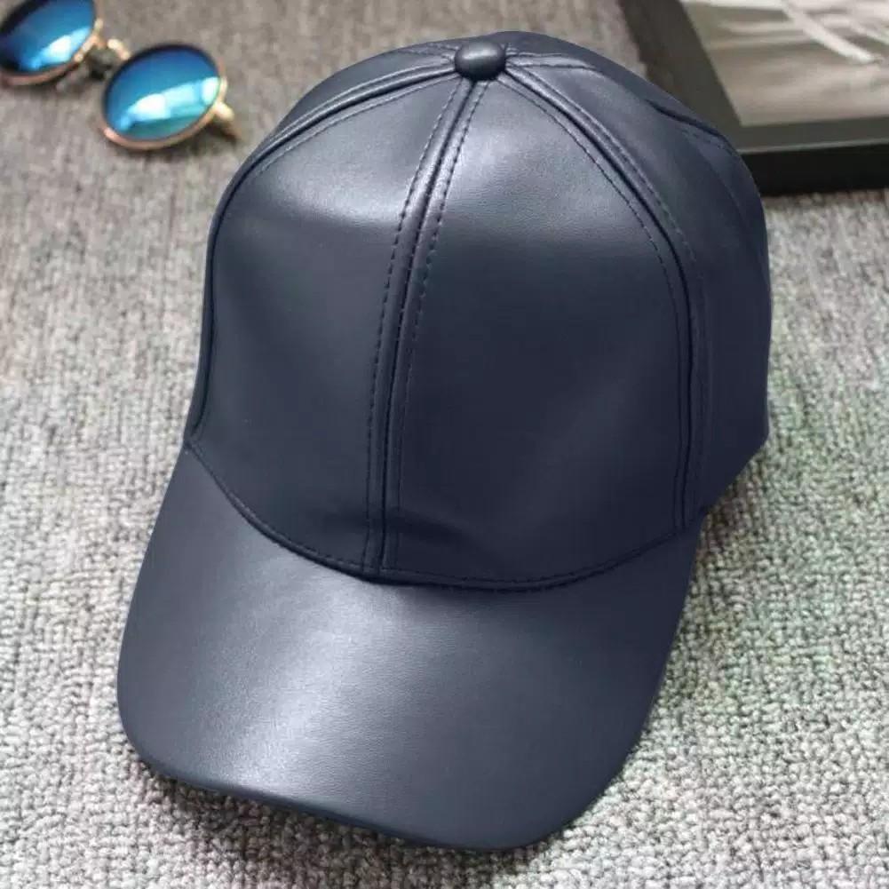 Topi kulit pu untuk pria dan wanita