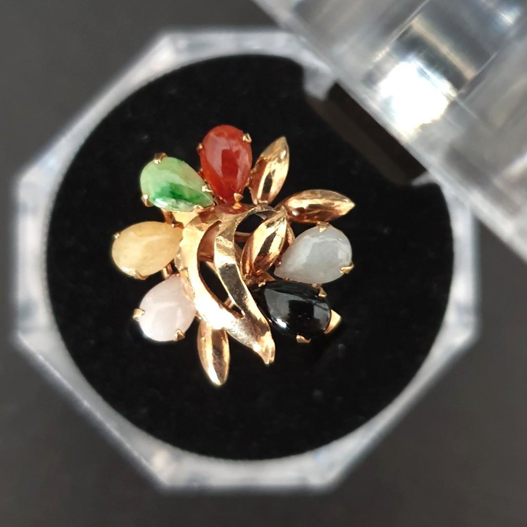Vintage Jade Ring - 14k
